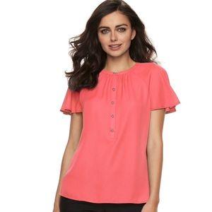 Apt. 9 flutter sleeve blouse